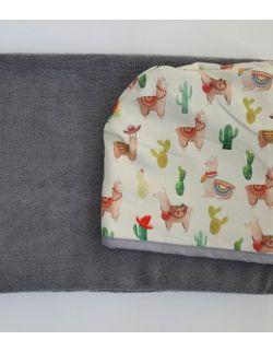Ręcznik bambusowy - Lamy - duży - Cuddle Dreams