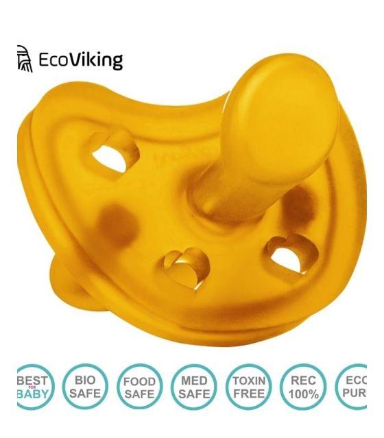 Eco Viking Anatomiczny Smoczek Uspokajający Hevea HEARTS wiek 0+