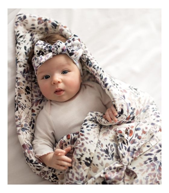 Bambusowy rożek niemowlęcy Pink Leaves