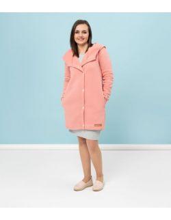 Płaszcz wiosenny damski-łososiowy