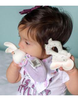 Mięciutka grzechotka kauczukowo-bawełniana króliczek Havah