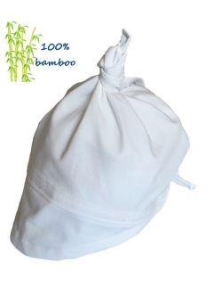 Chustka z daszkiem Bambusowa Biała