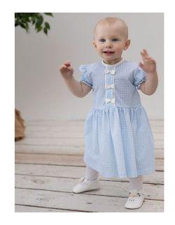 Sukienka - Letnia Niebieska/Beżowa Pepitka