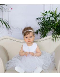 Sukienka do chrztu wizytowa Pola BIAŁA 62-104