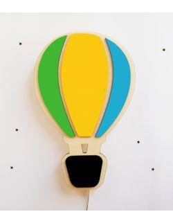 Drewniana lampka nocna - Balon z koszem wybór