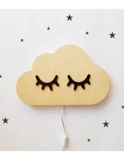 Drewniana lampka nocna - Śpiąca chmurka