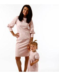 Zestaw sukienek dla mamy i córki Królewska Perła Pudrowy Róz