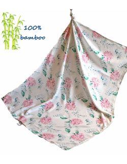 Otulacz Bambusowy 140x150cm HORTENSJE