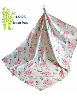 Otulacz Bambusowy 120x120cm HORTENSJE