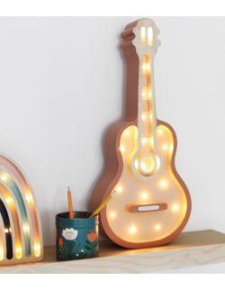 Lampka gitara z el. drewna