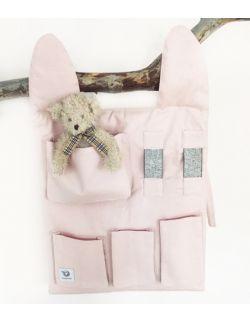 Organizer na łóżeczko - różowy