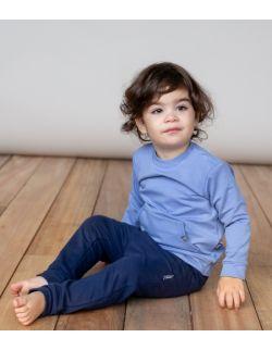 Bluza kangurek - z bawełny organicznej - niebieska