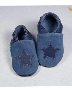 Kapciuszki granatowa Gwiazda na jeansie