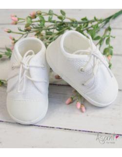 Trampki buty buciki niemowlęce do chrztu