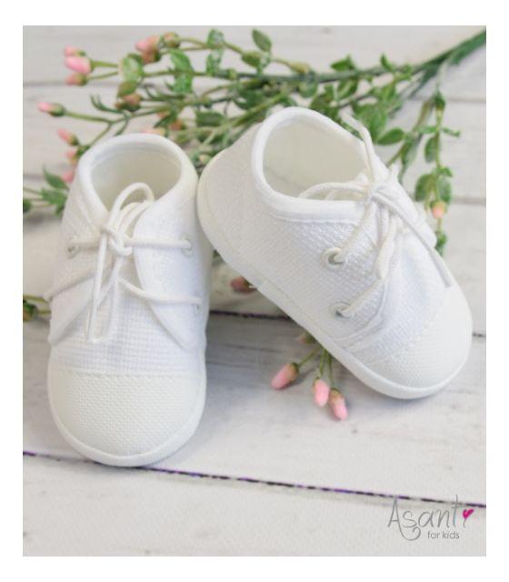 Trampki buty buciki niemowlęce do chrztu Asanti