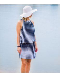 Letnia damska sukienka w paski