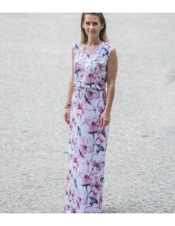 Damska sukienka maxi - Power of flowers