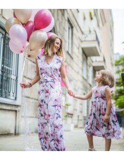 Komplet sukienek dla mamy i córki - Power of flowers