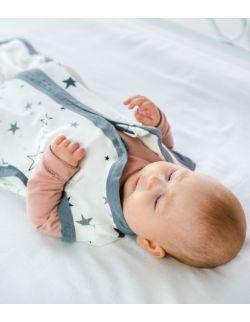Śpiworek do spania Bambus Jersey 0-24m Regulowany Gwiazdy