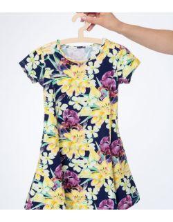 Sukienka Córka w tropikalne kwiaty