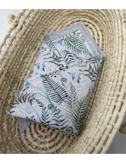 Starter niemowlęcy Paprocie: kokon + pościel + rożek