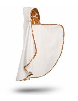 Bambusowy ręcznik-narzutka z kapturkiem - Żyraffa