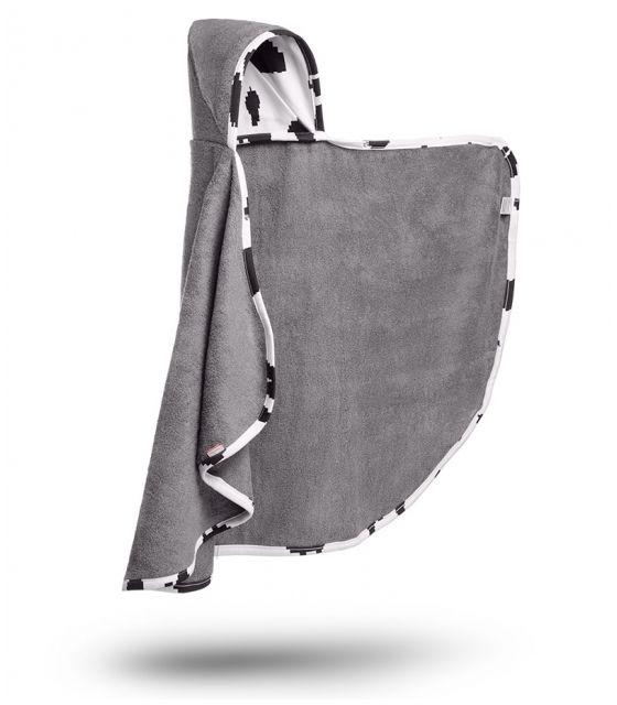 Bambusowy ręcznik-narzutka z kapturkiem - Cyber Krowa