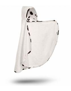 Bambusowy ręcznik-narzutka z kapturkiem - Krowa