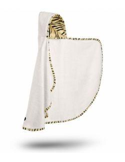 Bambusowy ręcznik-narzutka z kapturkiem - Tygryzł
