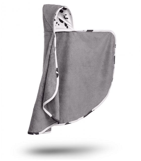 Bambusowy ręcznik-narzutka z kapturkiem - Dalmatyńczyk