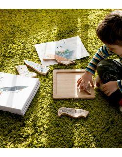 Drewniana układanka edukacyjna