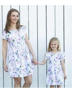 Komplet sukienek w kwiatki dla córki i mamy Flowers by Libou