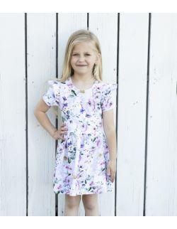 Sukienka w kwiatki dla dziewczynki Flowers by Libou