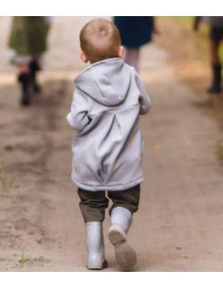 Płaszcz dziecięcy jesienno-wiosenny- ciemny szary