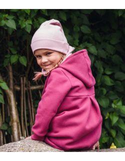 Dziecięca czapka z kominem-kwarcowy róż