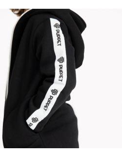 Bluza Dziecięca Rozpinana z Kapturem Czarna - Zip Logo Black