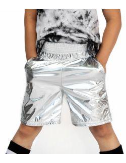 Spodenki Dziecięce Bokserskie Srebrne - Boxing Silver Kids