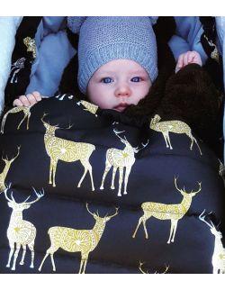 Śpiworek zimowy niemowlęcy Piórka (0-12mcy)