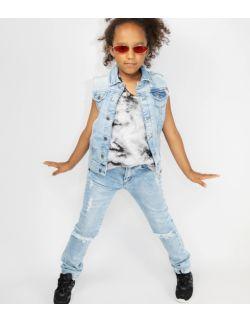 Spodnie Dziewczęce Jeansowe z Dziurami Sky