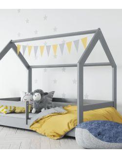 Łóżko domek szare 1