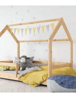 Łóżko domek naturalne 1
