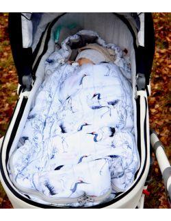 Śpiworek zimowy Żurawie (newborn 0-12mcy)