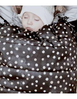 Śpiworek zimowy Złote Kropy (newborn 0-12mcy)