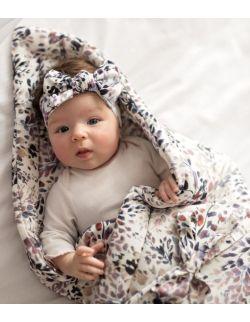 Rożek niemowlęcy Pink Leaves