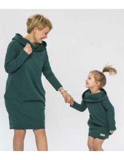 Komplet tunik dla mamy i córki - We feel green