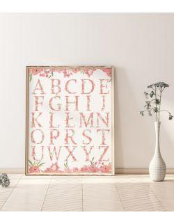 Autorska ilustracja - Alfabet Piwonie