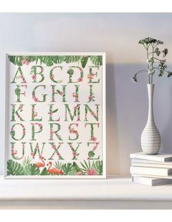 Autorska ilustracja - Alfabet Jungle Beat