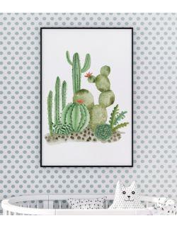 Autorska ilustracja - Kaktusy. Jungle Beat