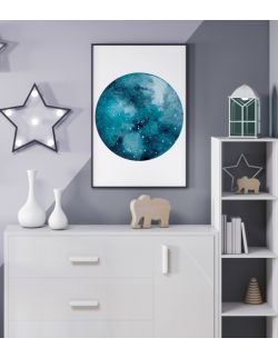 Autorska ilustracja - Planet Blue. Sky High.