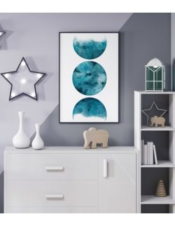 Autorska ilustracja - Planet Blue Trio. Sky High.